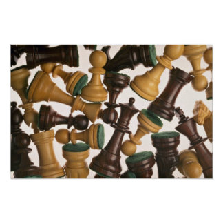 Picture of Chess pieces Poster