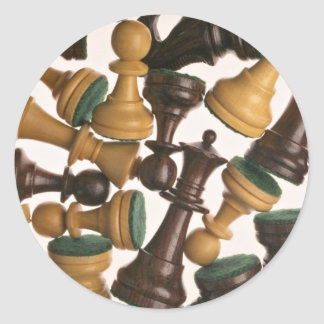 Picture of Chess pieces Classic Round Sticker