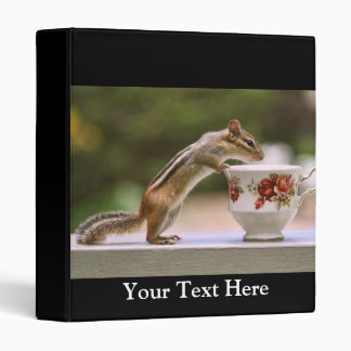 Picture of Chipmunk with China Teacup 3 Ring Binder
