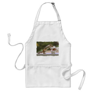 Picture of Chipmunk with China Teacup Adult Apron