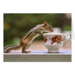 Picture of Chipmunk with China Teacup Greeting Card