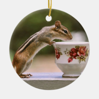 Picture of Chipmunk with China Teacup Ceramic Ornament