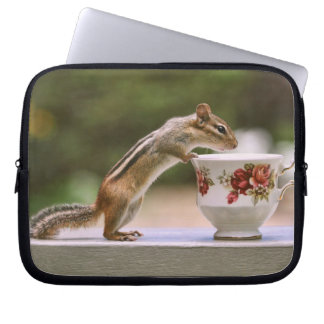 Picture of Chipmunk with China Teacup Laptop Sleeve