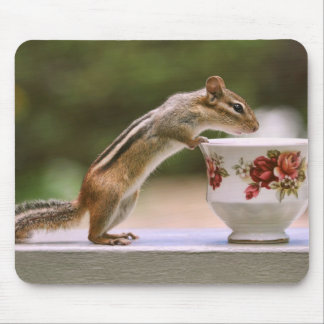 Picture of Chipmunk with China Teacup Mouse Pad