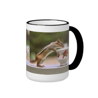 Picture of Chipmunk with China Teacup Ringer Coffee Mug