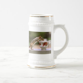 Picture of Chipmunk with China Teacup 18 Oz Beer Stein