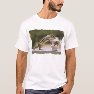 Picture of Chipmunk with China Teacup T-Shirt