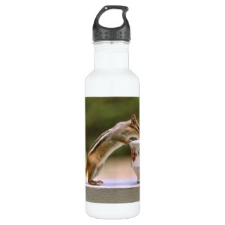 Picture of Chipmunk with China Teacup Water Bottle