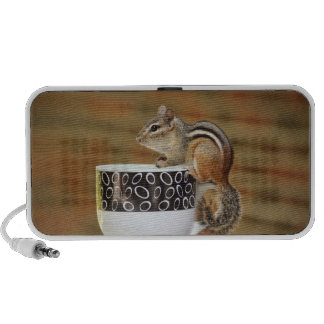 Picture of Chipmunk with Latte Coffee Cup Laptop Speaker