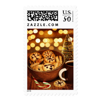 Picture of Christmas time gingerbread Postage