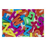 Picture of Colorful plastic letters Print