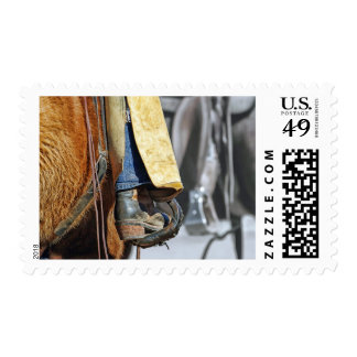 Picture Of Cowboy Boot Postage Stamps
