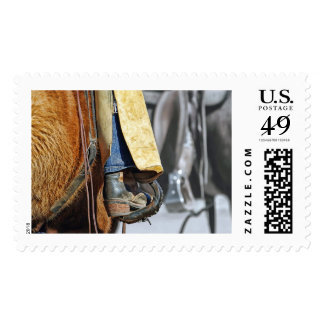 Picture Of Cowboy Boot Postage Stamp