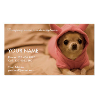 Picture of Cute Chihuahua Double-Sided Standard Business Cards (Pack Of 100)