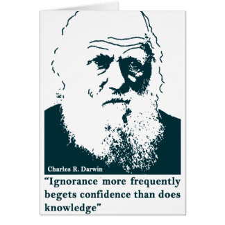 Picture of Darwin and mentions. English Felicitacion