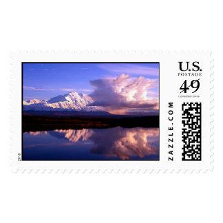 picture of denali nat park alaska postage stamp