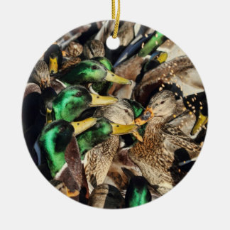 Picture of Ducks in a Crowd Christmas Tree Ornaments