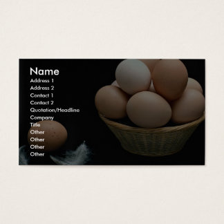 Picture of Eggs arranged in a bowl Business Card