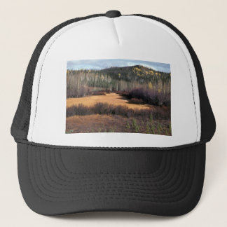 PICTURE OF FALL IN MOUNTAINS TRUCKER HAT