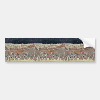 Picture of famous places Japan by Utagawa,Toyoharu Car Bumper Sticker