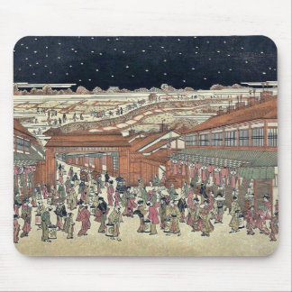 Picture of famous places Japan by Utagawa Toyoharu Mousepads