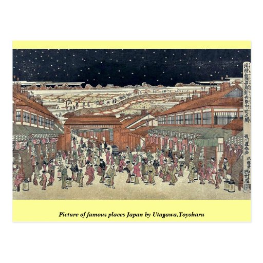 Picture of famous places Japan by Utagawa,Toyoharu Postcard