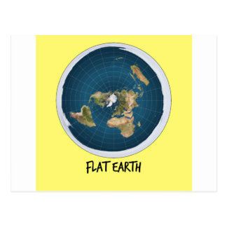Picture Of Flat Earth Postcard
