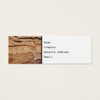 Picture of Fossilized Wood. Mini Business Card