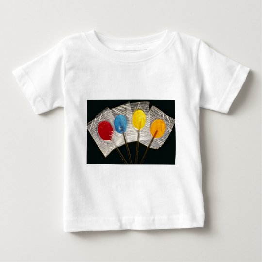 Picture of Four colorful lollipops Baby T-Shirt