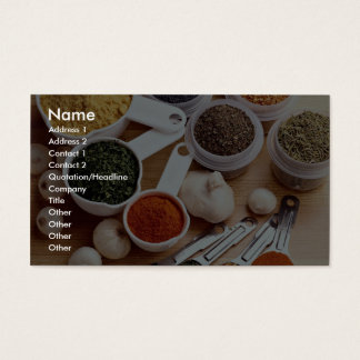 Picture of Fresh spices with garlic cloves Business Card