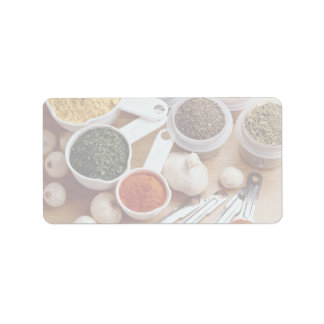 Picture of Fresh spices with garlic cloves Personalized Address Label