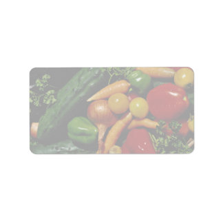 Picture of Fresh vegetables Personalized Address Label