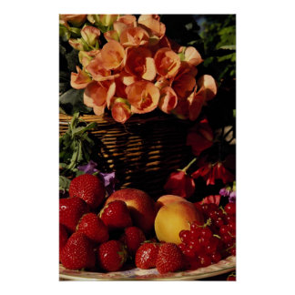 Picture of Fruit and flowers Poster