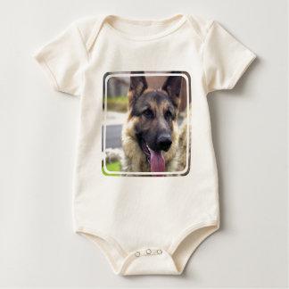 Picture of German Shepherd  Infant Baby Bodysuit