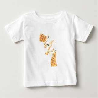 Picture of giraffe and her baby baby T-Shirt