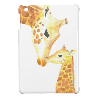 Picture of giraffe and her baby case for the iPad mini