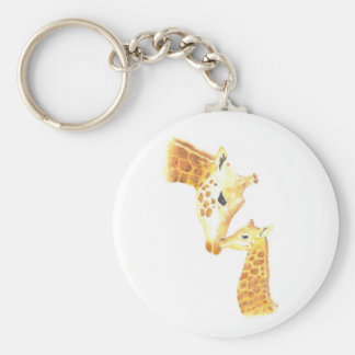Picture of giraffe and her baby keychain