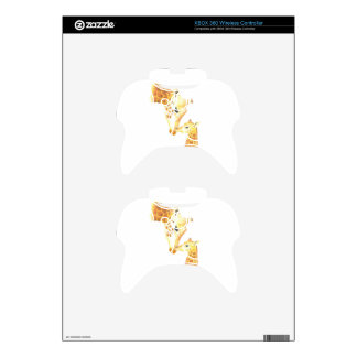 Picture of giraffe and her baby xbox 360 controller decal