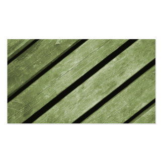 Picture of Green Planks of Wood Business Card