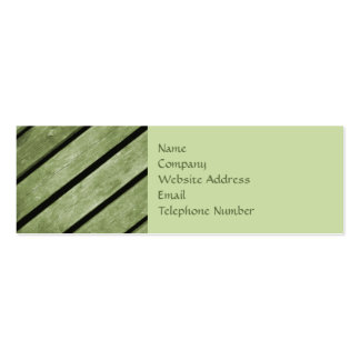 Picture of Green Planks of Wood Mini Business Card