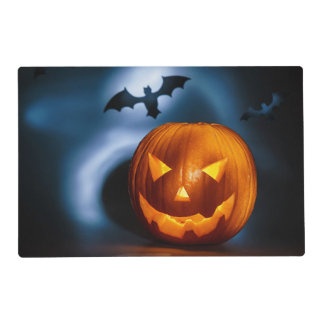 Picture Of Halloween Holiday Background, Carved Placemat