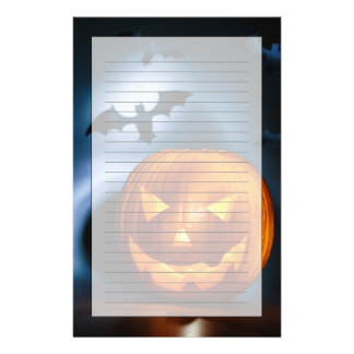 Picture Of Halloween Holiday Background, Carved Stationery