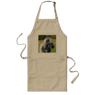 Picture of Horses - A Beautiful White Horse Long Apron