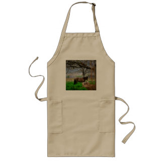 Picture of Horses - A Horse Standing On The Field Long Apron