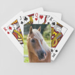 "Picture Of Horses - A Horse With Beautiful Mane Playing Cards<br><div class=""desc"">Picture of a beautiful reddish brown horse with beautiful mane. If you like horses especially horses with beautiful mane, then this design is perfect for you. The image used in this design are from high quality image with high DPI (dots per inch) to ensure the highest quality when printed. You...</div>"