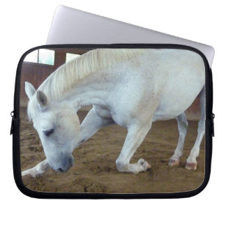 Picture of Horses - A Trained Horse Saluting Laptop Sleeve