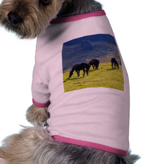 Picture Of Horses Grazing On The Field Doggie Tee