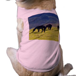 Picture Of Horses Grazing On The Field Dog Tee