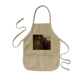 Picture of Horses -The Eye Of A Strong Horse Kids' Apron