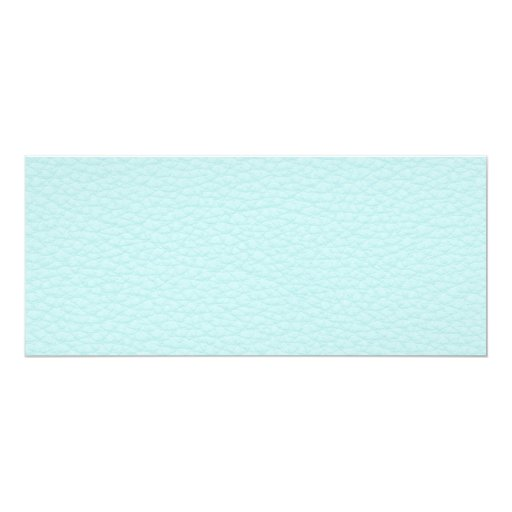 Picture of Light Turquoise Leather. 4x9.25 Paper Invitation Card